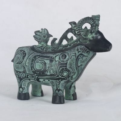 Chinese Bronze Handwork Carved Sheep Incense Burner