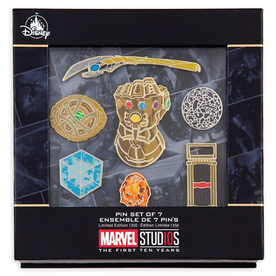 Disney Marvel Studios 10th Anniversary Pin Set LE 1350 Infinity War Stones 10 Ye