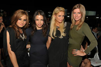 GLOSSY PHOTO PICTURE 8x10 Demi Lovato, Jenna Dewan With  Paris And Nicky Hilton