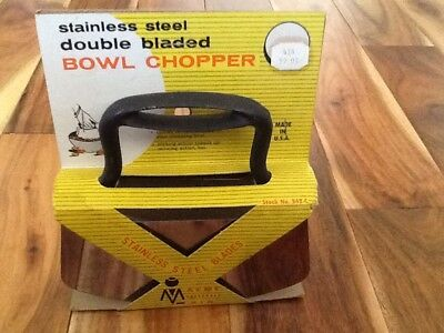 Vtg Stainless Steel Double Blade Rocker Chopper Mincer-Acme (542 ) New/Old Stock