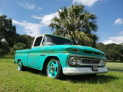 1960 Chevrolet C-10  1960 chevy patina shop truck.