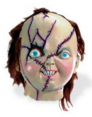 Chucky Mask Bride of Deluxe Costume Child's Play Vintage Collectble Rare Damage