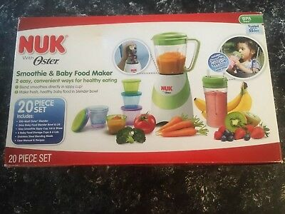 NUK Smoothie and Baby Food Maker - 20 Piece Set. Brand New