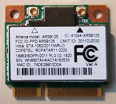 Atheros AR5B125 Mini PCI-E Wireless Card for Laptop