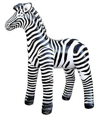 "2 Inflatable Realistic Zebra 56""H Safari Collection Home Garden Decor Bouncy"
