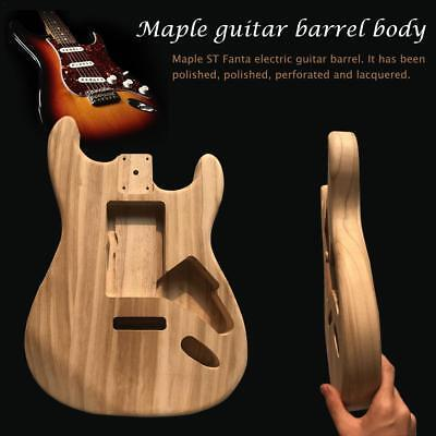 Maple Wood ST Fanta Unfinished Electric Guitar Body For DIY Guitar Instrument