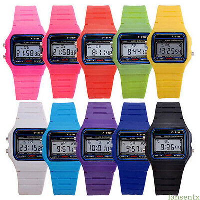 1Pc F-91W Sport Movement Alarm Stopwatch Wrist Watch LCD Digital Wristwatch Acc