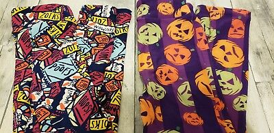 LuLaRoe Kids Leggings Halloween 2 piece Lot S/M NWOT Ships Fast Pumpkin & Candy