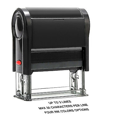 Custom Self Inking Rubber Stamps Return Address Stamp with up to 3 Lines