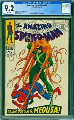 Amazing Spider-Man # 62 CGC 9.2 ! Perfectly Centered !White Pages!