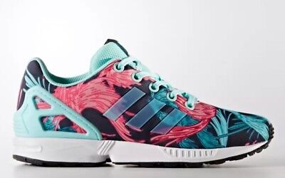 7527ef69cc982 Adidas ZX Flux J Birds Of Paradise Youth Size 7Y Athletic Shoes BY9827 New!
