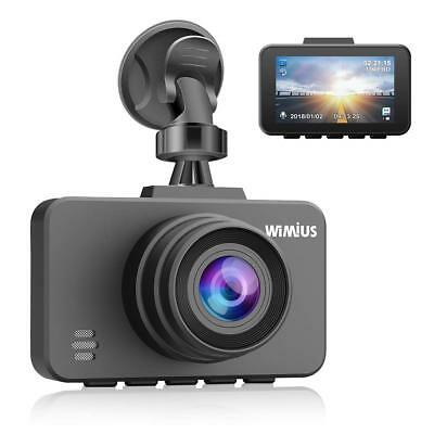 WiMiUS Dash Cam 1080P FHD DVR LCD Screen Car Driving Camera Recorder Dashboard