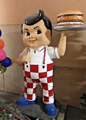 STATUE. TALL 1.9m  3D LIFE SIZE BIG BOY HAMBURGER ICON . Collectible