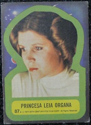 Argentina Star Wars Spanish 1977 Princess Leia Carrie Fisher Card Stani Topps