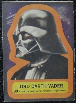 Argentina Star Wars Spanish 1977 Darth Vader Card Stani Topps
