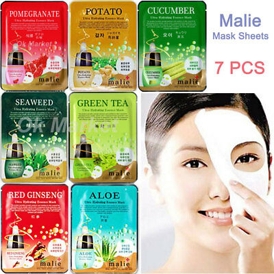 7 pcs Hydrating Mask Sheet Pack Face Moisture Facial Nutrition Skin Care Korean