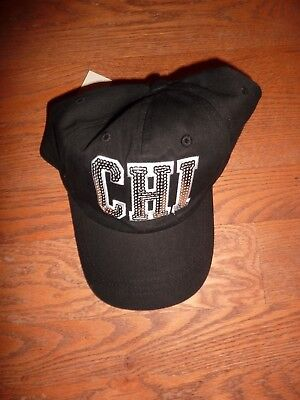 """Victorias Secret Pink Rare Bling Chicago """"chi"""" One Size """"pink"""" Hat Cap Nwt"""
