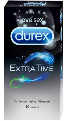 Durex Extra Time Condoms 1 Box of 10 Pieces Expiry 4/2021