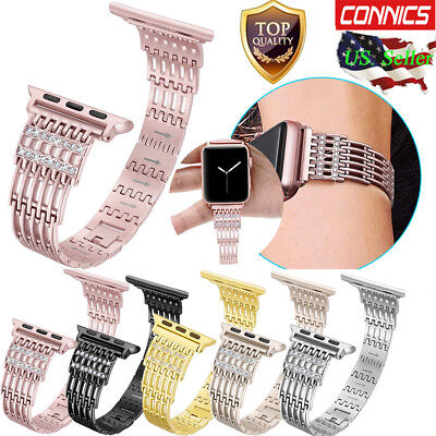 Metal Stainless Steel Watch Band Strap For Apple Watch Series 1 2 3 4 38mm 42mm