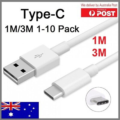 1-10Pack 1M 3M USB Type-C Data Charging Cable Charger Cord Samsung S8 Note8