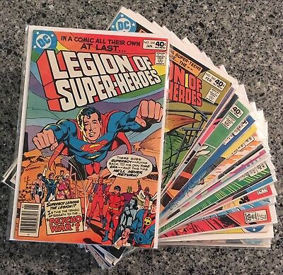THE LEGION OF SUPER HEROES Lot of 25 Issues VF/NM (DC 1980) Superboy leaves