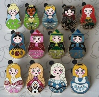 Nesting Dolls Mystery Pack Princess Disney Trading Pin Make a Set Lot