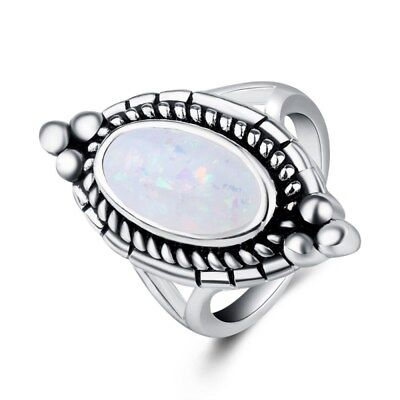 Women beautiful Ring Ancient Silver Plated Fashion Jewelry Christmas Gift New