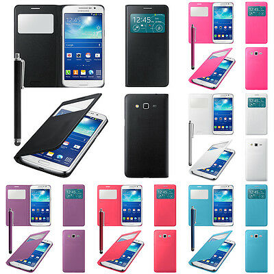 View Protective Sleeve for Samsung Galaxy Grand 2 SM-G7106 Stylus Window Phone