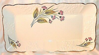 Empire England Platter Ceramic with Thistle Art Deco Design Signed Vintage