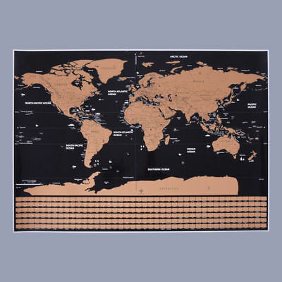 Large Size Travel World Map Scratch Off Personalized Travel Vacation Log