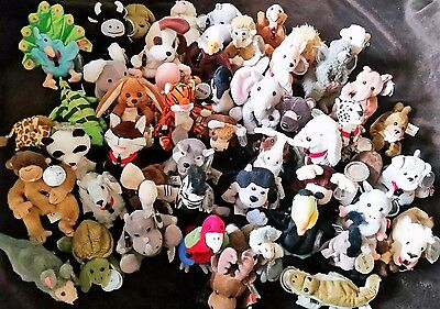 Complete Lot of 50 Coca-Cola International Collection Beanies Plush Animals NWT