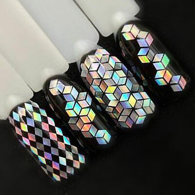 Nail Glitter Sequin Mixed Size Rhombus Shaped 3D Flakes Nail Art Tip Decoration