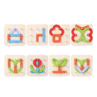 CN_ Funny Wood Letter Shape Color Sorting Stacking Block Kids Educational Toy