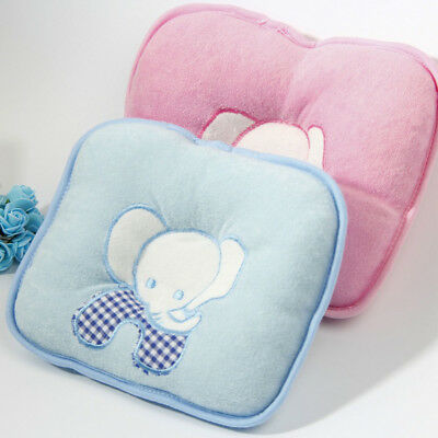 Baby Girl Boy Lovely Anti-Roll Prevent Flat Head Infant Sleeping Pillow