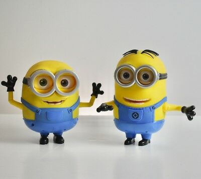 2 BIG MINIONS Talking Dave & Bob Figures INTERACTIVE from Thinkway Toys