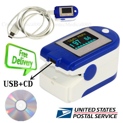 24 Hours Record Finger Tip Pulse Oximeter SPO2 Heart Rate Monitor Software USB