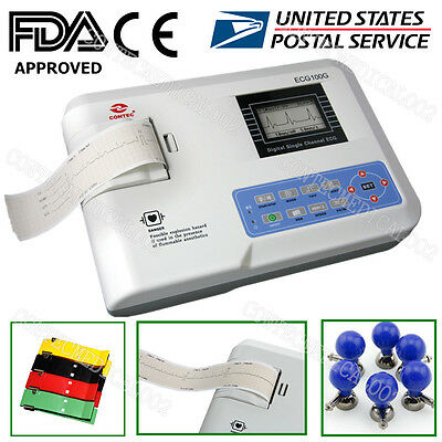 US Seller Digital single channel 12-lead ECG/EKG machine Electrocardiograph 100G