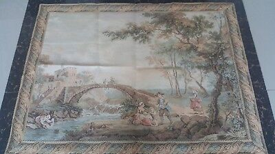 "Antique 19c Aubusson French Tapestry  good view  condition  size 31""x41cm79x104"