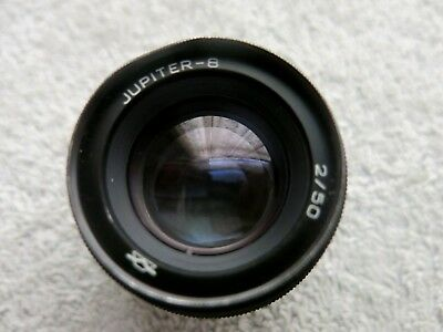 JUPITER-8  2/50mm RUSSIAN LENS M39 SCREW FIT FOR LEICA / ZEISS / NEEDS A CLEAN