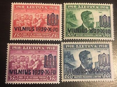 Lithuania 1939 310 - 313 MNH LH