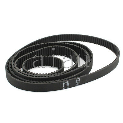 HTD5M Timing Belt Cogged Rubber Geared Closed Loop 15/20mm Wide