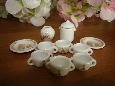 Sylvanian Families Ceramic China Set Cookware Tableware Utensils Vintage Vase