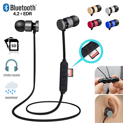 Sport Bluetooth Earbuds Stereo Wireless Headphones Earphones iPhone Android