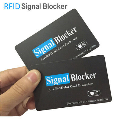 New RFID Blocker Card Signal Blocking Credit & Dibet Card Wallet ID Protector