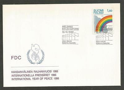 FINLAND - 1986 International peace year - F.D. COVER.