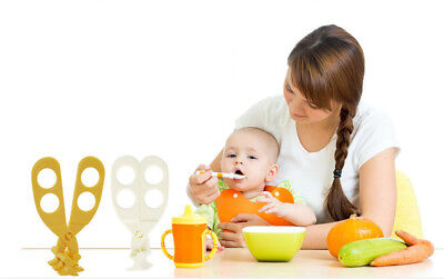 Baby Toddlers Food Scissors Cutter Crush Feeding Material Safety Easy Clean