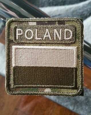 Polish ARMY FLAG POLAND patch camo 50x35 special force GROM