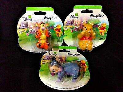 Disney Energizer ~ Winnie The Pooh Characters ~ * Squeeze Me * Light Figurines 2