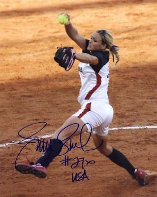 REPRINT - JENNIE FINCH USA Softball Signed 8 x 10 Photo Poster RP