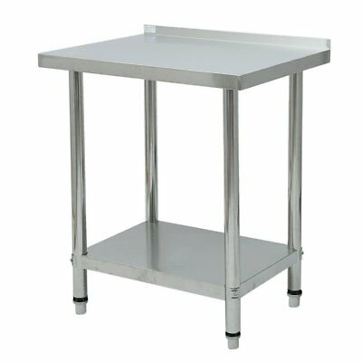 """Rolling Stainless Steel Top Kitchen Work Table Cart  Shelving 30""""x24"""" NEW TG"""